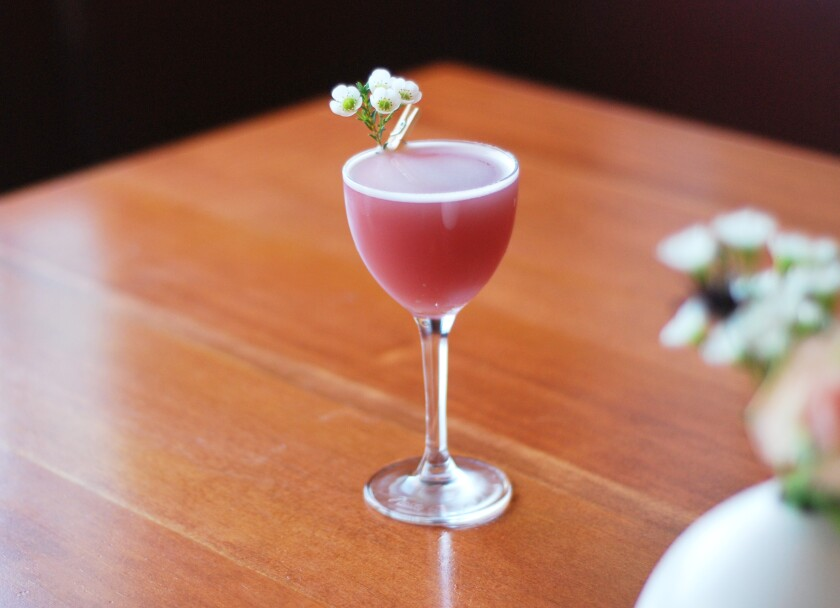 Saint Balthazar, one of Madison on Park's new cocktails which uses frankincense essential oil.