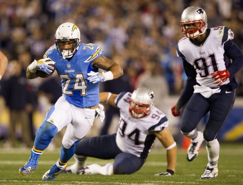 Ryan Mathews, running here before suffering his latest injury on Dec. 7 against the New England Patriots, is one of the league's best when he's on the field.