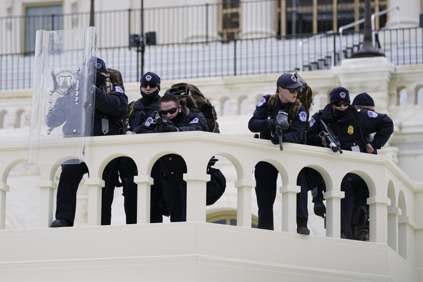 Police at the U.S. Capitol