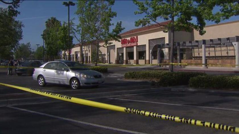Police in Fountain Valley fatally shot a man while responding to a reported burglary of a Rite Aid early Sunday morning.