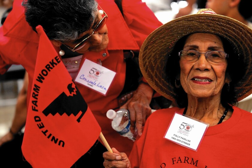 Farm workers recall grape strike