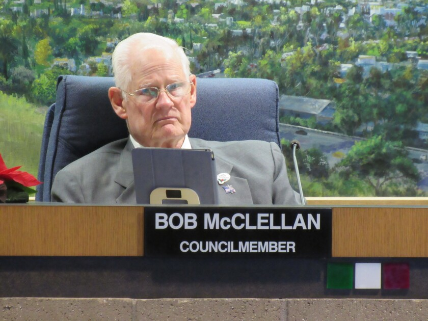 El Cajon City Councilman Bob McClellan is healing after hitting his head and undergoing brain surgery in July.