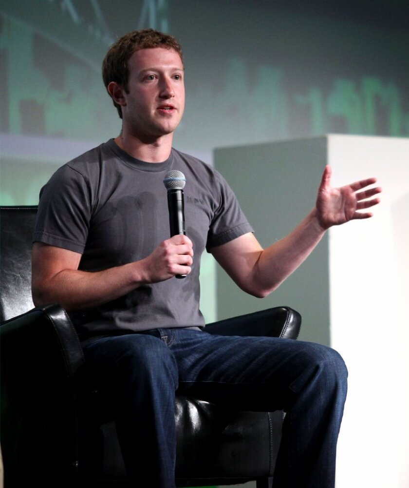 Facebook Chief Executive Mark Zuckerberg speaks at the TechCrunch Disrupt conference in San Francisco in September.