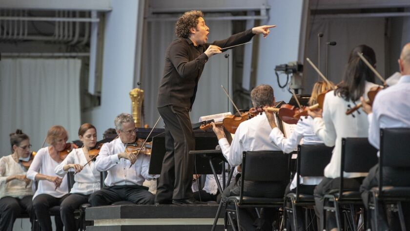 Gustavo Dudamel conducts the annual Hollywood Bowl opera.
