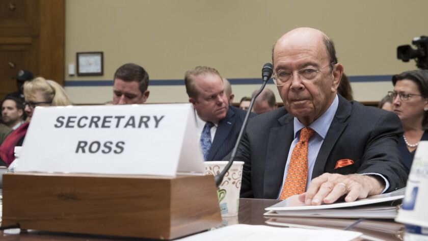 Commerce Secretary Wilbur Ross appears before the House Committee on Oversight and Government Reform to discuss preparing for the 2020 Census.