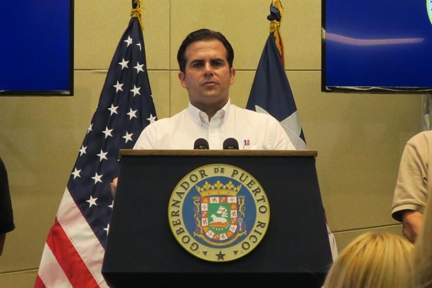 El gobernador de Puerto Rico, Ricardo Rosselló, habla en una conferencia de prensa. EFE/Archivo