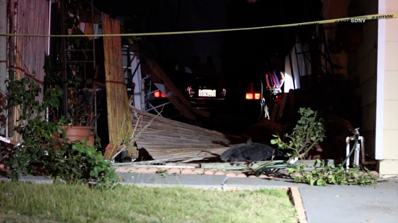 Suspected DUI driver arrested after SUV slams into hydrant, Otay Mesa home