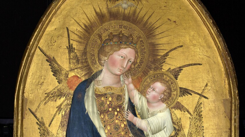"""A detail of """"The Branchini Madonna,"""" 1427, by Giovanni di Paolo."""