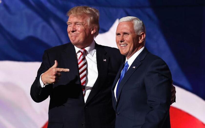 Trump y el vicepresidente, Mike Pence.