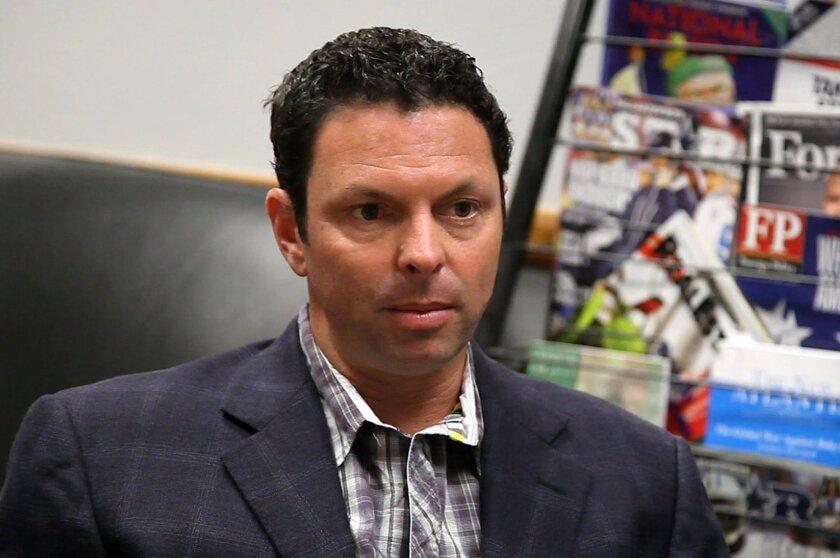 Former sports radio host Scott Kaplan speaks with UT San Diego Wednesday in Mission Valley.