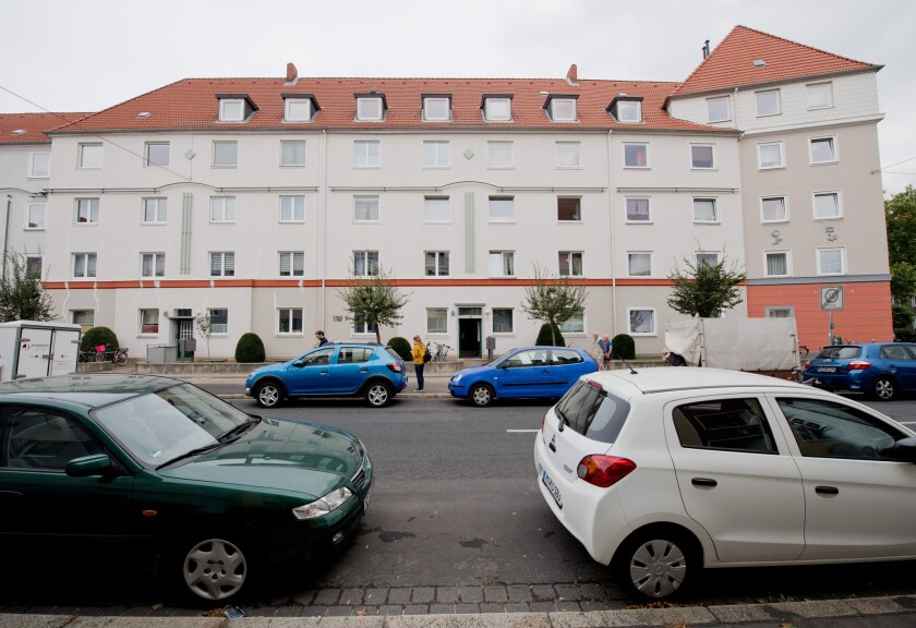 The skeleton of a dead newborn and a living baby have been found in a suitcase inside a flat of a residential house in the borough of Vahrenwald in Hannover, Germany on Sept. 30, 2016.