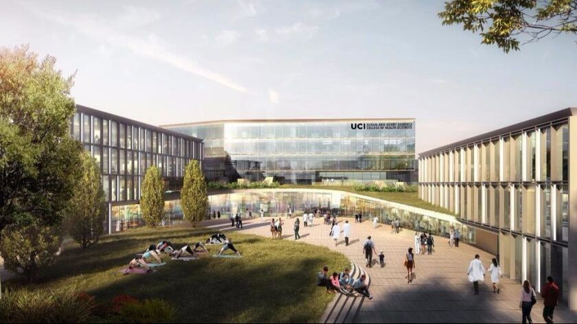 Rendering of the Susan and Henry Samueli College of Health Sciences
