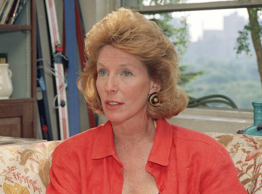Author and journalist Gail Sheehy in 1988.