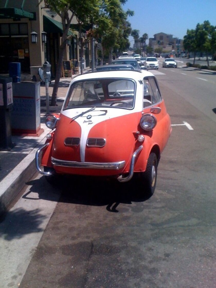 One view of Joe Mitchell's stolen 1957 BMW Isetta 300.