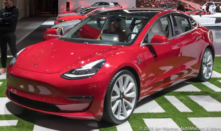 Tesla Model 3 electric vehicle