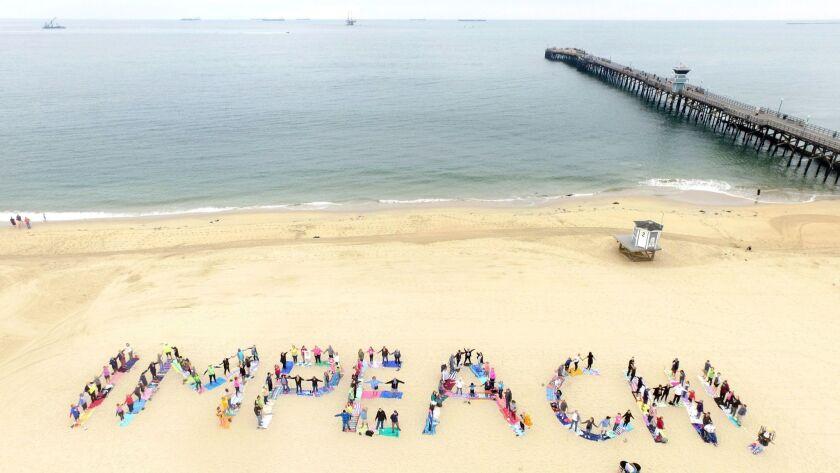 Trump impeachment rally in Seal Beach