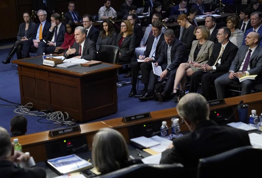 Michael Horowitz, Justice Department inspector general, testifies Wednesday before the Senate Judiciary Committee.