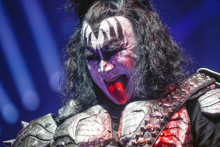 Kiss bass player Gene Simmons