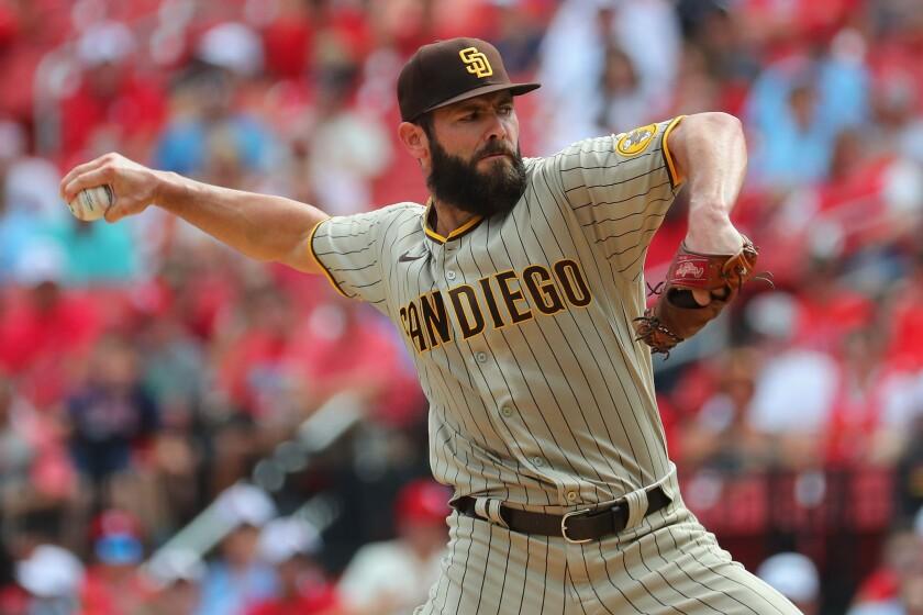 The Padres' Jake Arrieta
