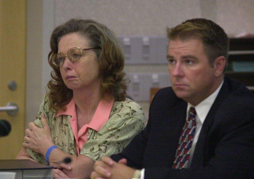 Jane Dorotik during her 2001 trial in Superior Court in Vista.
