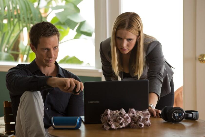 """Jason Dohring and Kristen Bell in """"Veronica Mars."""""""