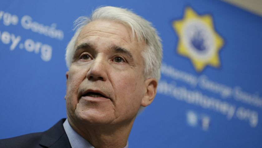 FILE - In this Dec. 9, 2014 file photo, San Francisco District Attorney George Gascon speaks during