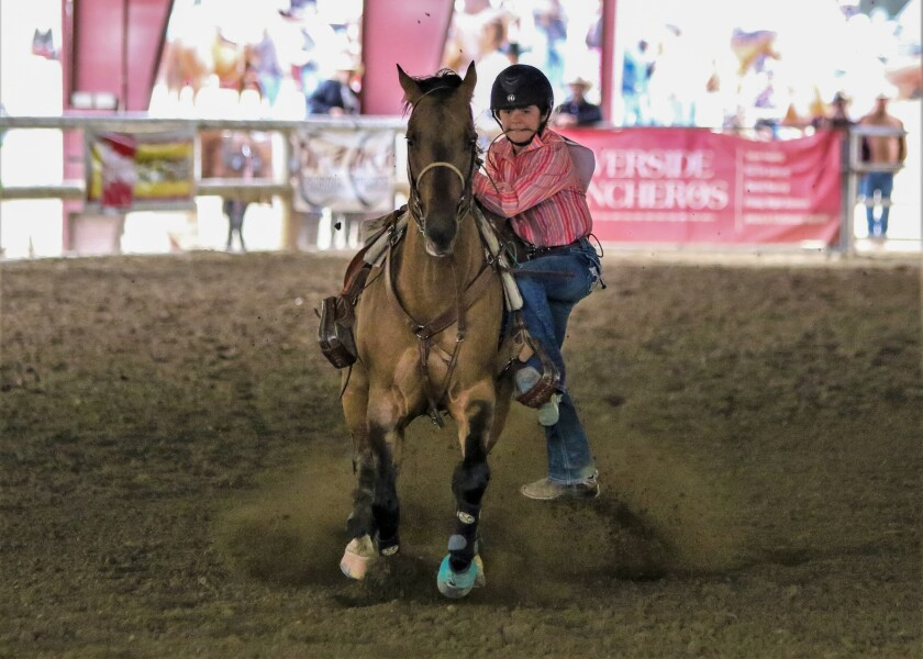 Ramona's Kendra Deskovick competed in the state finals of the California High School Rodeo Association.