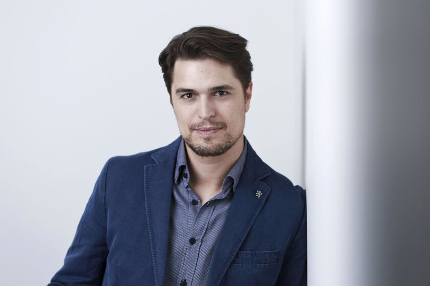 "In this April 16, 2015 photo, Portuguese actor Diogo Morgado poses for a portrait in promotion of his role in the upcoming CW Network series ""The Messengers"" in New York. The series airs Fridays at 9 p.m. EDT. (Photo by Amy Sussman/Invision/AP)"