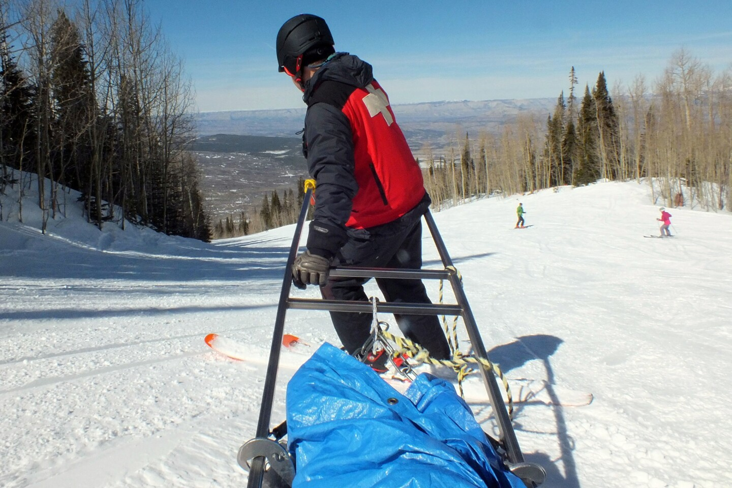 Powderhorn Mountain Resort now offers a ski along program with patrolers to learn safety, transporting, and caring for customers on the mountain.