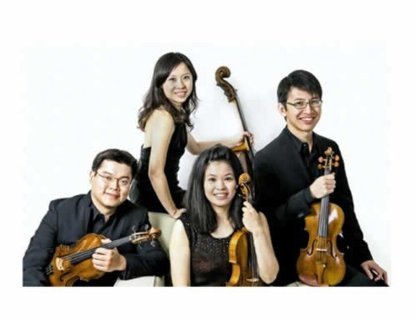 The Formosa String Quartet will launch the music series with a concert on Oct. 27. Courtesy
