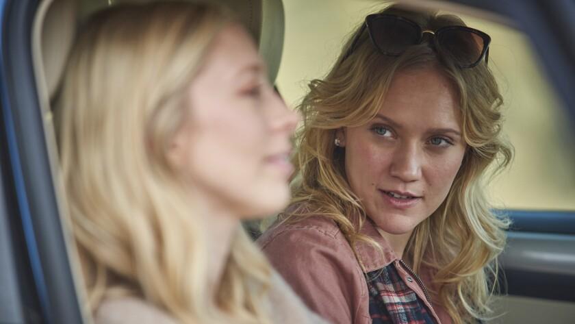 "Alexandra Feld, left, and Danielle Burgess in the movie ""Killer Kate!"""