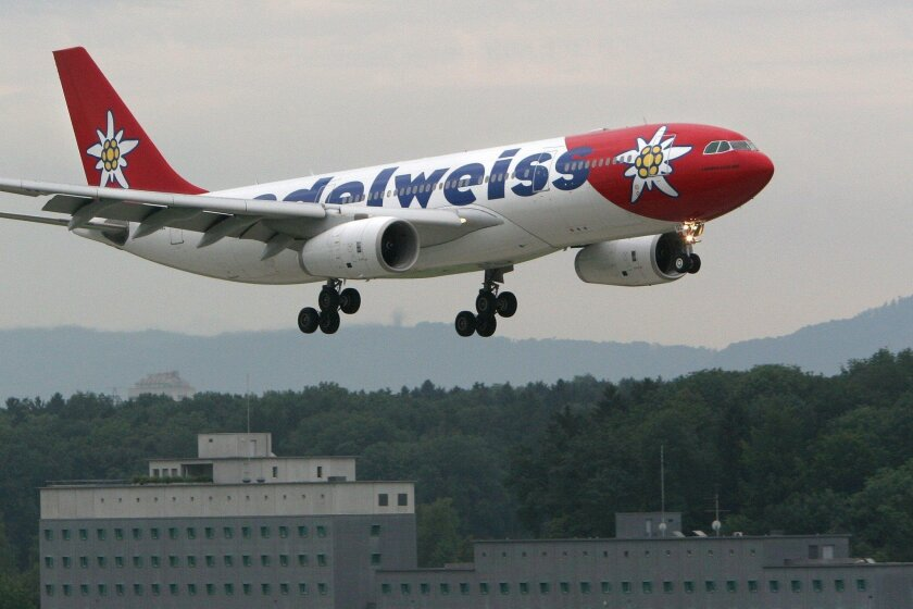 The Swiss airline Edelweiss will begin offering next June twice-a-week nonstop flights between San Diego and Zurich.