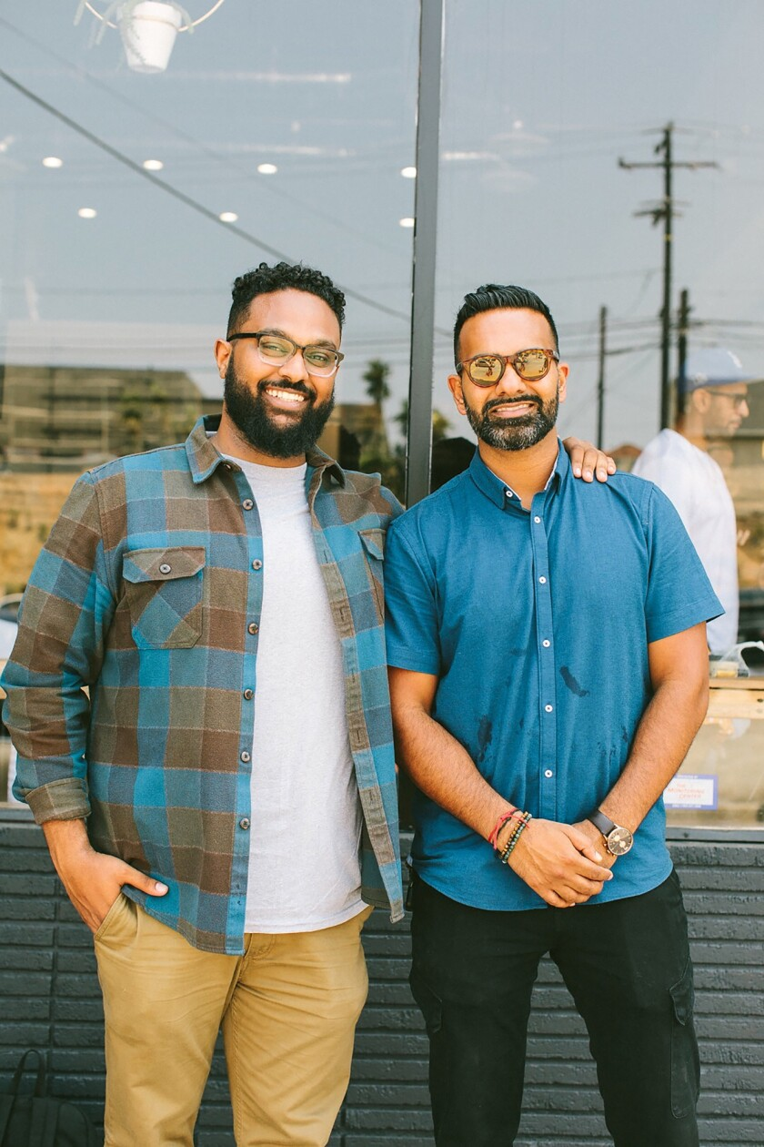 Yonnie Hagos, left and Ajay Relan, right, founders of Hilltop Coffee & Kitchen.