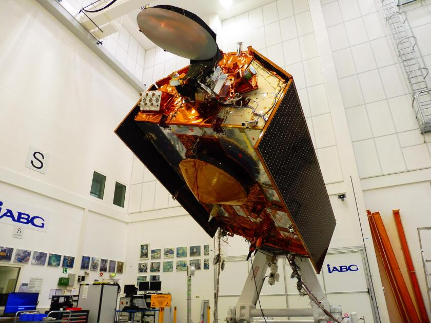 Sentinel-6A spacecraft in a clean room