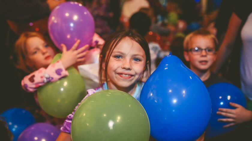 Kids celebrate New Year's Eve at the Children's Museum's annual Pajama Jam.