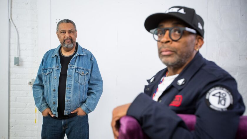 Blackkklansman co-writer Kevin Willmott, left, and director Spike Lee.