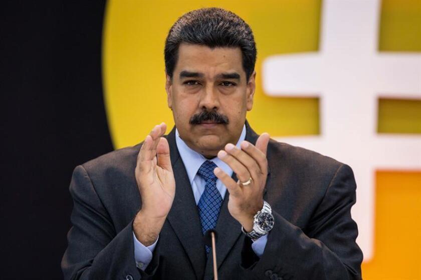El presidente de Venezuela, Nicolás Maduro, asiste a un acto de Gobierno en el palacio de Miraflores. EFE/Archivo
