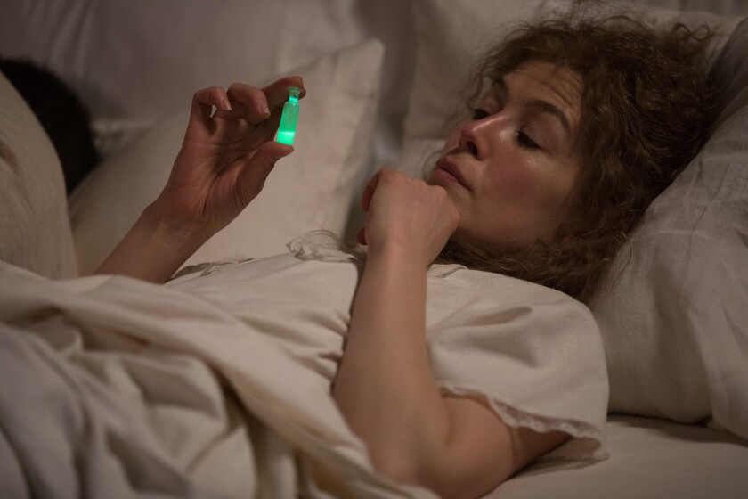 """Rosamund Pike as Marie Curie in """"Radioactive"""""""