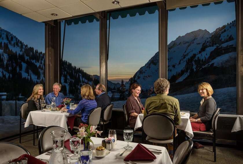 The dining room at Alta Lodge, which is celebrating its 75th anniversary.