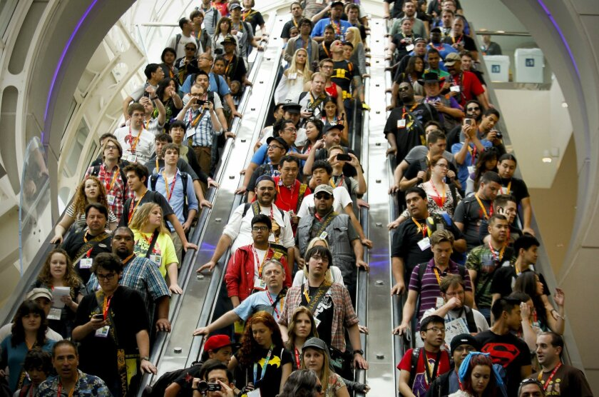 Comic-Con is the largest convention held at the San Diego Convention Center. it typically draws more than 135,000 attendees.