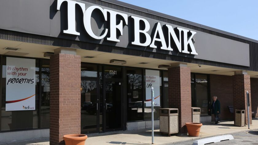 A TCF Bank branch is seen in 2016 at 6141 S. Archer Ave. in Chicago. Plans call for TCF Financial Corp. to be acquired by Chemical Financial Corp. in an all-stock deal. The combined company will operated under the TCF name.
