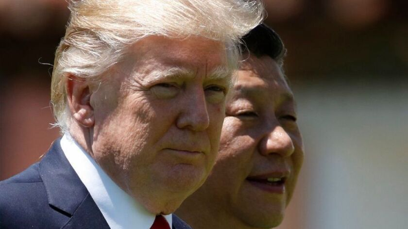 Trump and Chinese President Xi Jinping at Mar-a-Lago.