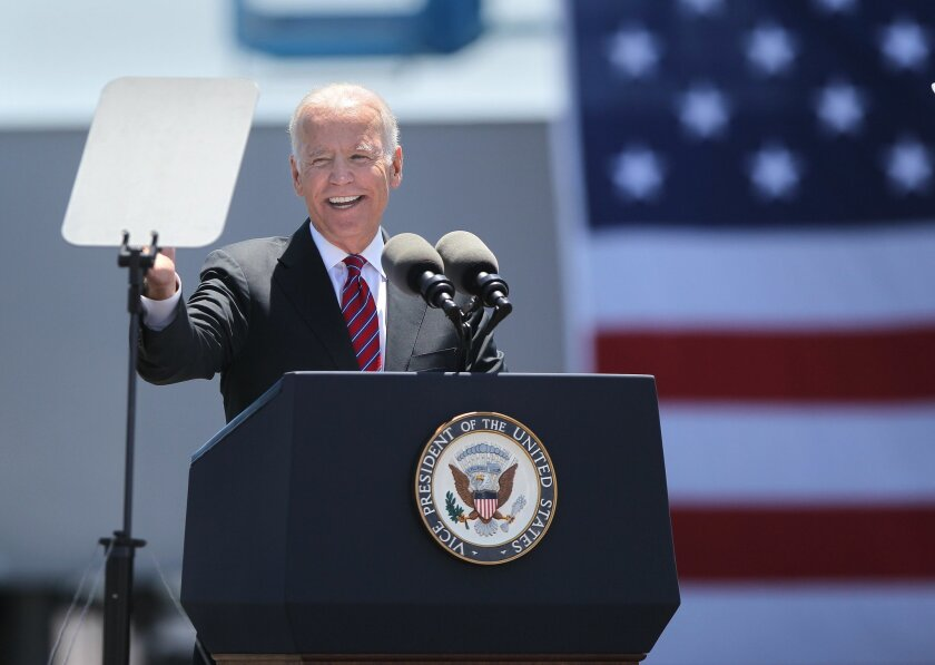 Vice President Biden spoke at the 10th avenue marine terminal.