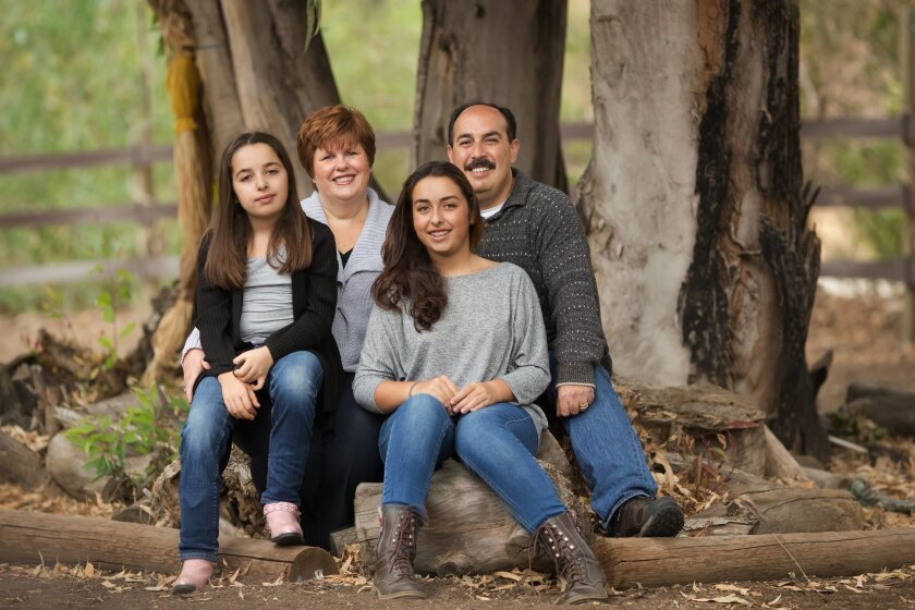 The Mellos family. From left: Calista, Sherri, Kaila and Peter Mellos.