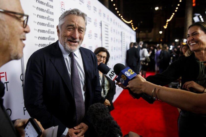 "Robert De Niro at the AFI Fest premiere of ""The Comedian."""