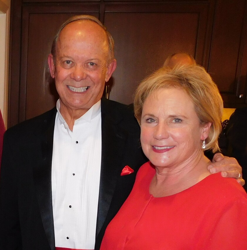 Dennis and Linda Fors join the Kiwanis Club's party.