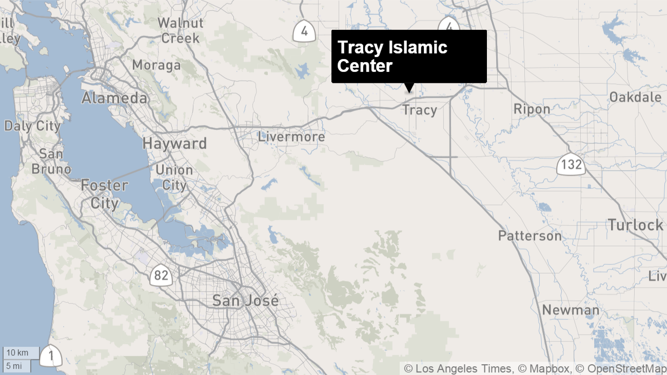 Arson at Central California mosque investigated as possible