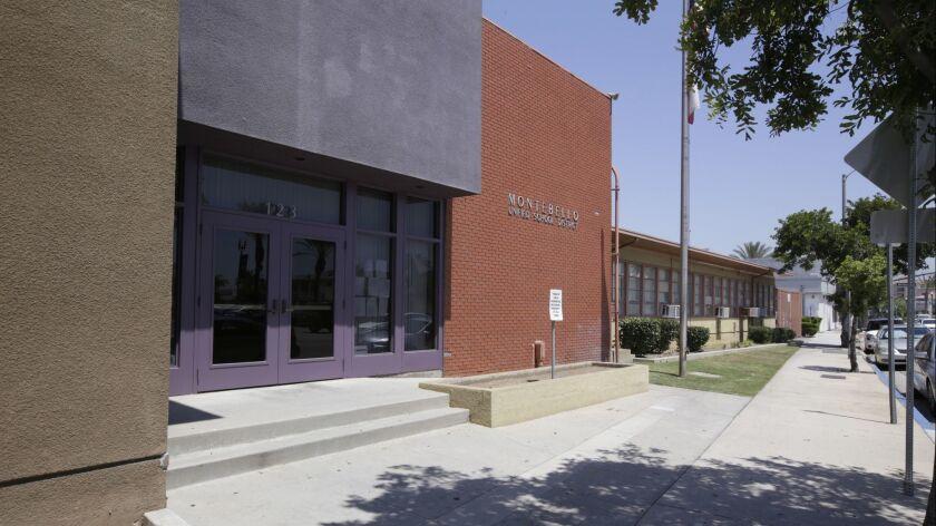 MONTEBELLO CA. JUNE 21, 2017: The Montebello Unified School District headquarters in Montebello on