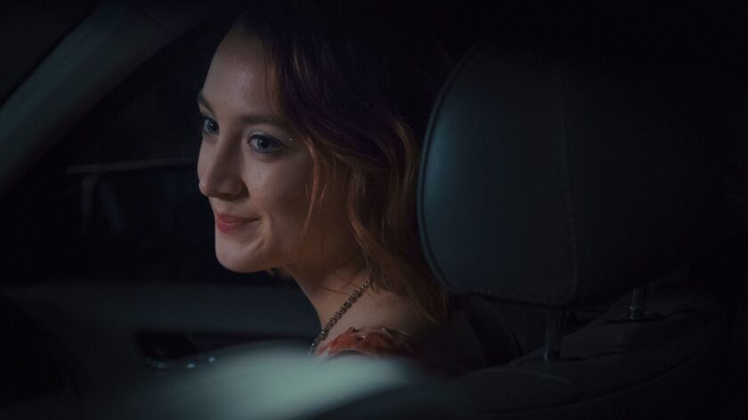 "Saoirse Ronan in a scene from the movie ""Lady Bird."" Credit: A24"
