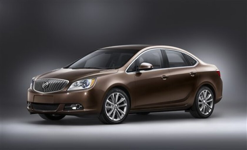 In this product image provided by General Motors, the company's new Buick Verano is shown. The company says it will unveil the upscale compact car on Monday, Jan. 10, 2011 at the Detroit auto show, GM's only new model to debut at the event. (AP Photo/General Motors) NO SALES